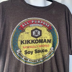 KIKKOMAN Soy Sauce Large Retro Graphic Tee Shirt